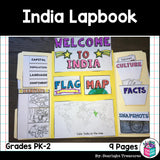India Lapbook for Early Learners - A Country Study