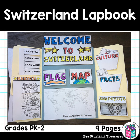 Switzerland Lapbook for Early Learners - A Country Study