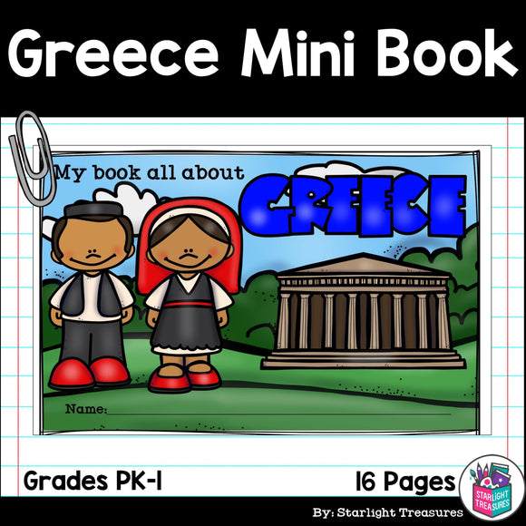 Greece Mini Book for Early Readers - A Country Study