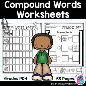 Compound Words Worksheets and Activities for Early Readers