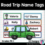 Road Trip Name Tags - Editable