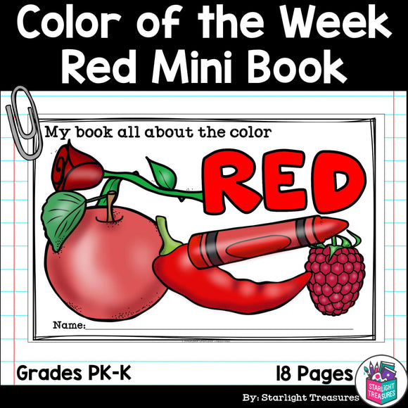 Colors of the Week: Red Mini Book