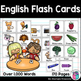 Over 1,000 English Vocabulary Flash Cards