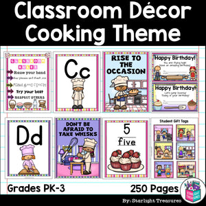 Classroom Decor Pack - Cooking/Baking Theme