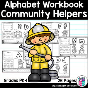 Worksheets A-Z Community Helpers