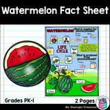 Watermelon Fact Sheet for Early Readers