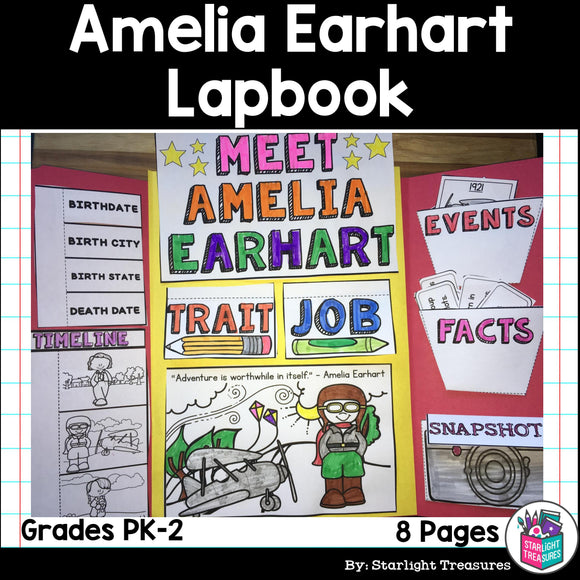 Amelia Earhart Lapbook for Early Learner