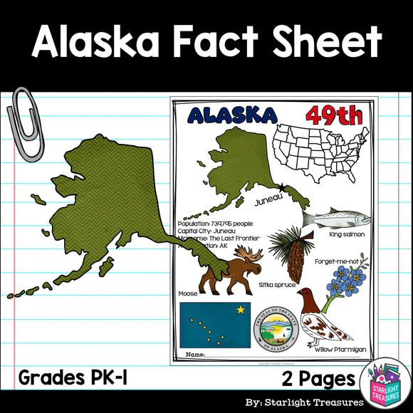 Alaska Fact Sheet for Early Readers
