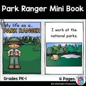 Park Ranger Mini Book for Early Reader