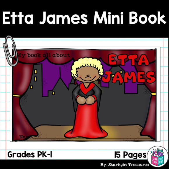 Etta James Mini Book for Early Readers: Black History Month