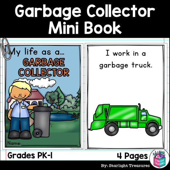 Garbage Collector Mini Book for Early Readers