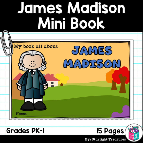 James Madison Mini Book for Early Readers: Presidents' Day