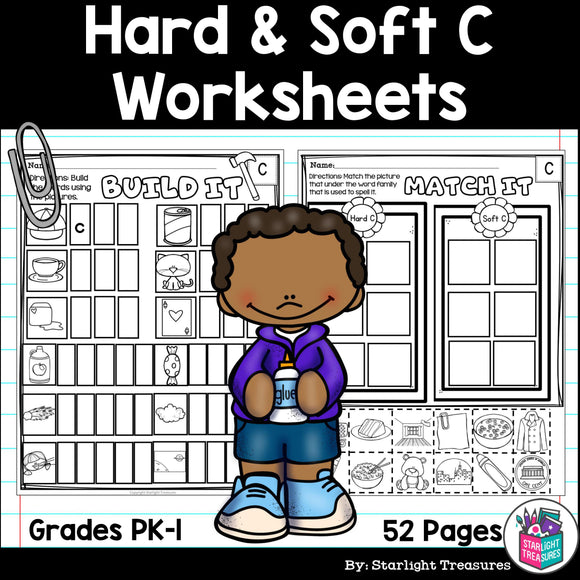 Hard & Soft C Worksheets and Activities for Early Readers