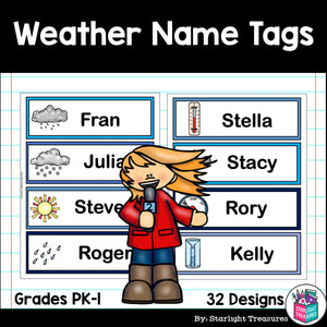 Weather Name Tags - Editable