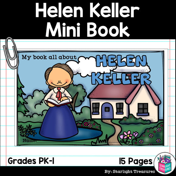 Helen Keller Mini Book for Early Readers: Women's History Month