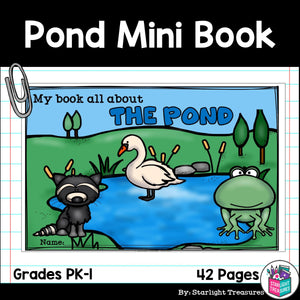 The Pond Mini Book for Early Readers: Pond Animals