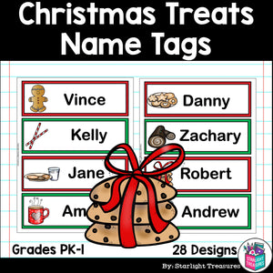 Christmas Treats Name Tags - Editable
