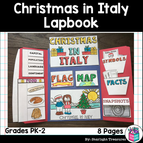 Christmas in Italy Lapbook for Early Learners