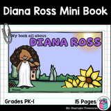 Diana Ross Mini Book for Early Readers: Women's History Month