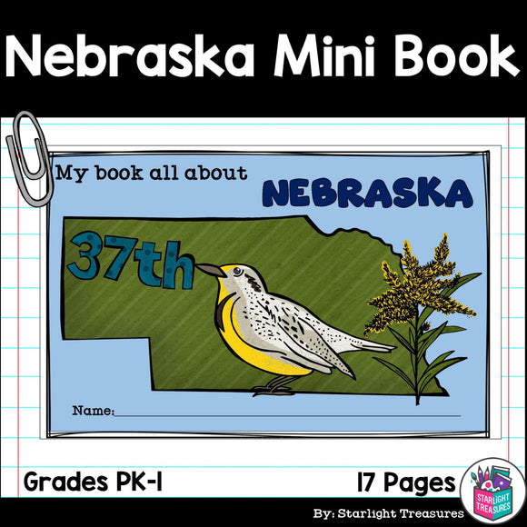 Nebraska Mini Book for Early Readers - A State Study