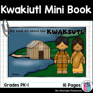Kwakiutl Tribe Mini Book for Early Readers - Native American Activities