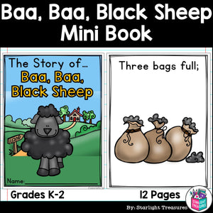 Baa, Baa, Black Sheep Mini Book for Early Readers