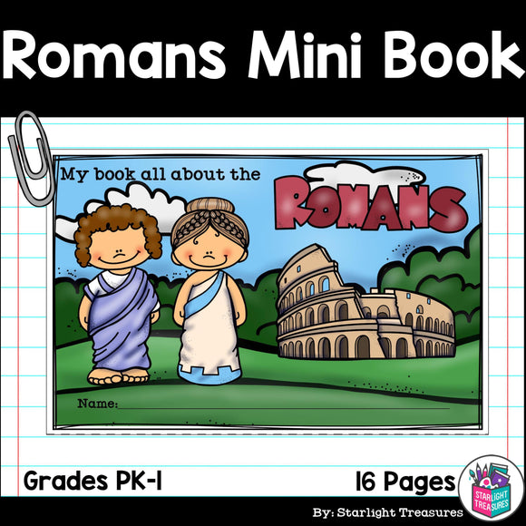 Ancient Rome Mini Book for Early Readers