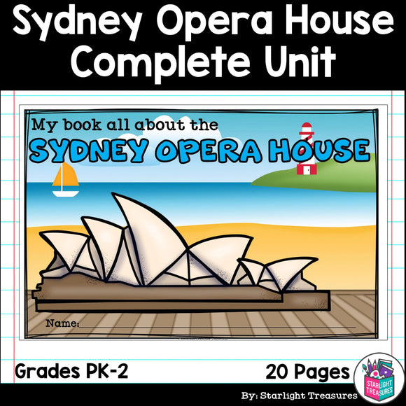Sydney Opera House Complete Unit for Early Learners - World Landmarks