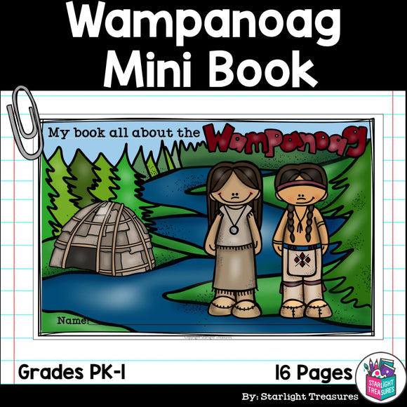 Wampanoag Tribe Mini Book for Early Readers