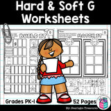 Hard & Soft G Worksheets and Activities for Early Readers