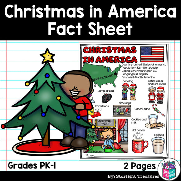 Christmas in America Fact Sheet for Early Readers