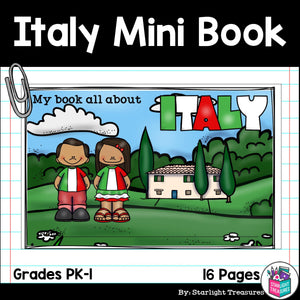 Italy Mini Book for Early Readers - A Country Study