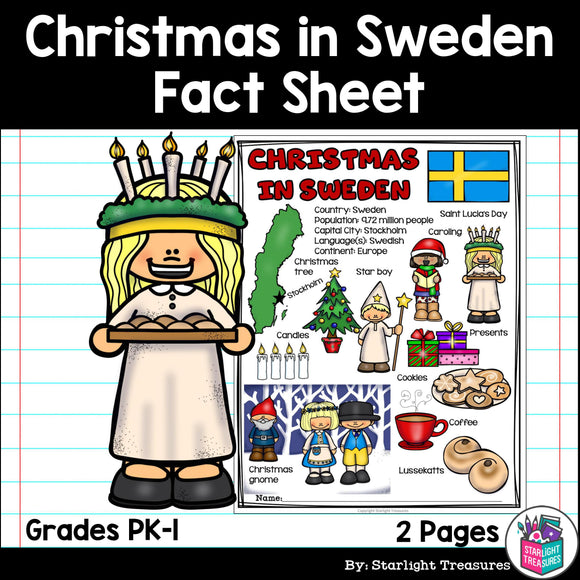 Christmas in Sweden Fact Sheet for Early Readers