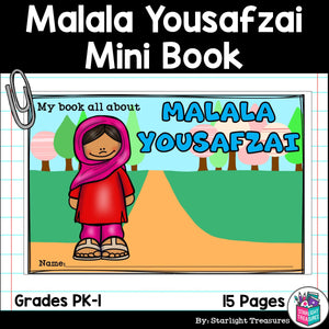Malala Yousafzai Mini Book for Early Readers: Women's History Month
