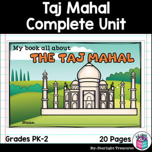 Taj Mahal Complete Unit for Early Learners - World Landmarks