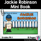 Jackie Robinson Mini Book for Early Readers: Black History Month