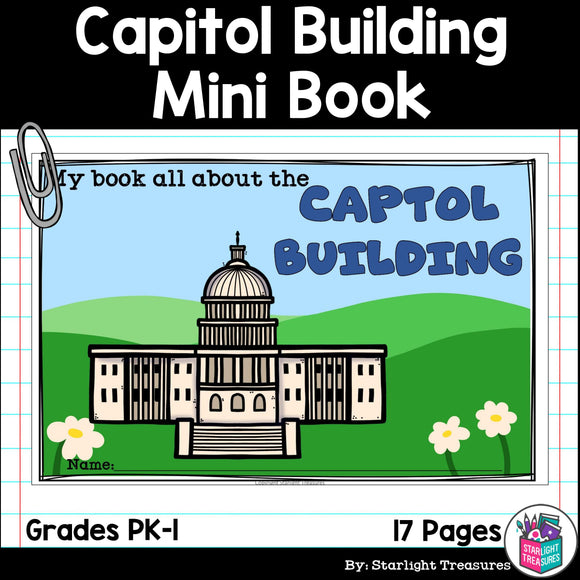 Capitol Building Mini Book for Early Readers: American Symbols