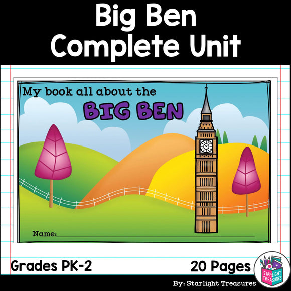 Big Ben Complete Unit for Early Learners - World Landmarks