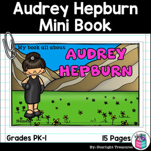 Audrey Hepburn Mini Book for Early Readers: Women's History Month