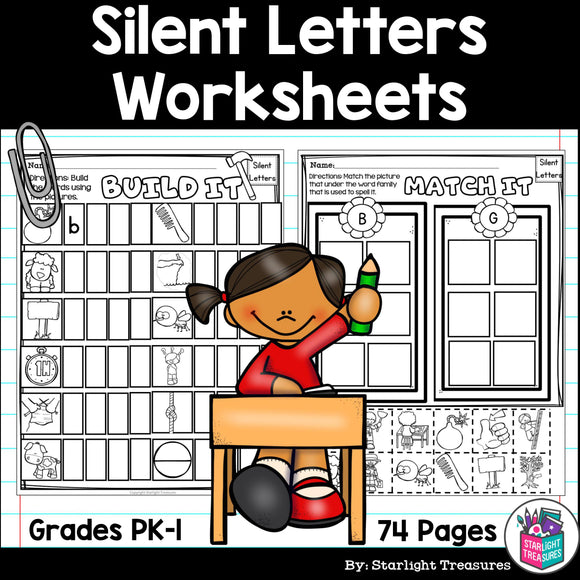 Silent Letters Worksheets and Activities for Early Readers