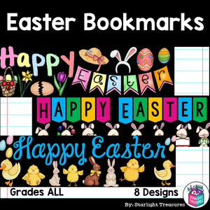 Easter Cut n' Color Bookmarks