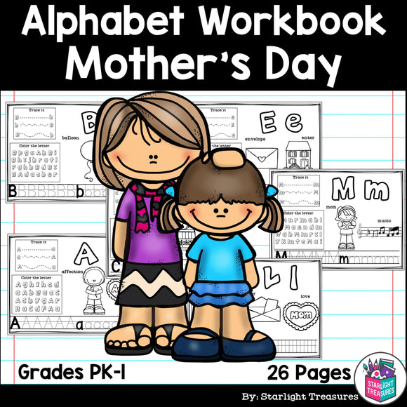 Worksheets A-Z Mother's Day Theme