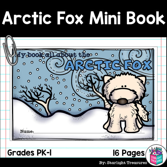 Arctic Fox Mini Book for Early Readers