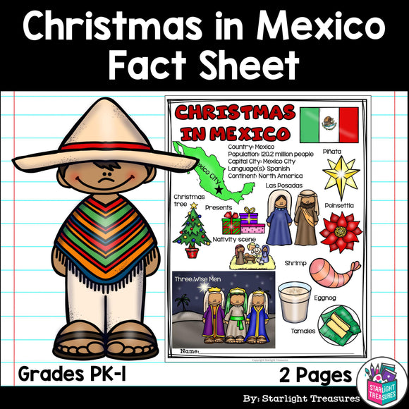 Christmas in Mexico Fact Sheet for Early Readers