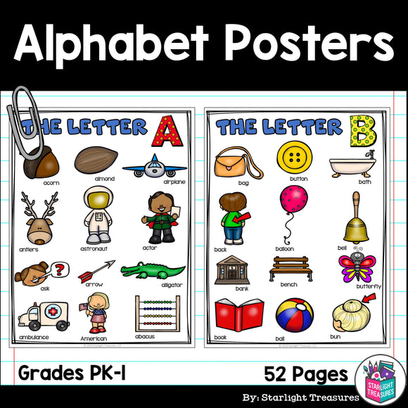 Alphabet Posters for Early Readers, Alphabet Letter of the Week FREEBIE