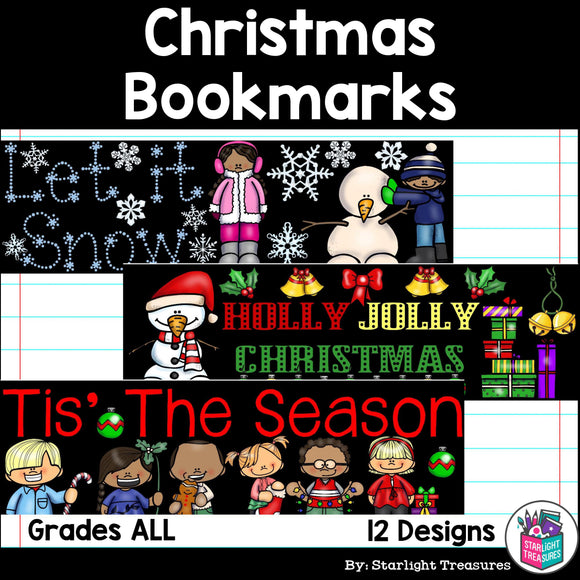Christmas Cut n' Color Bookmarks