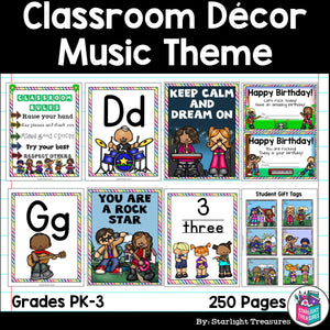 Classroom Decor Pack - Music Theme