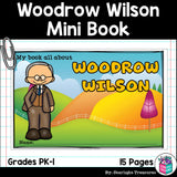 Woodrow Wilson Mini Book for Early Readers: Presidents' Day