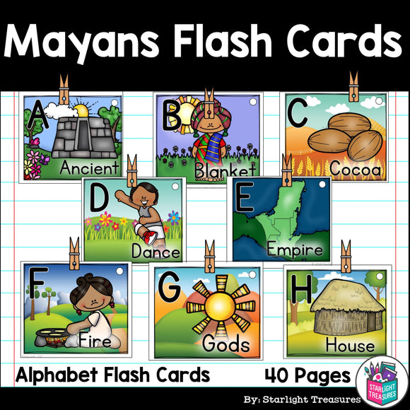 Alphabet Flash Cards for Early Readers - Mayans