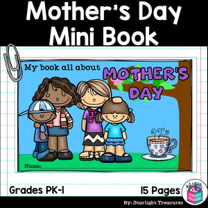 Mother's Day Mini Book for Early Readers